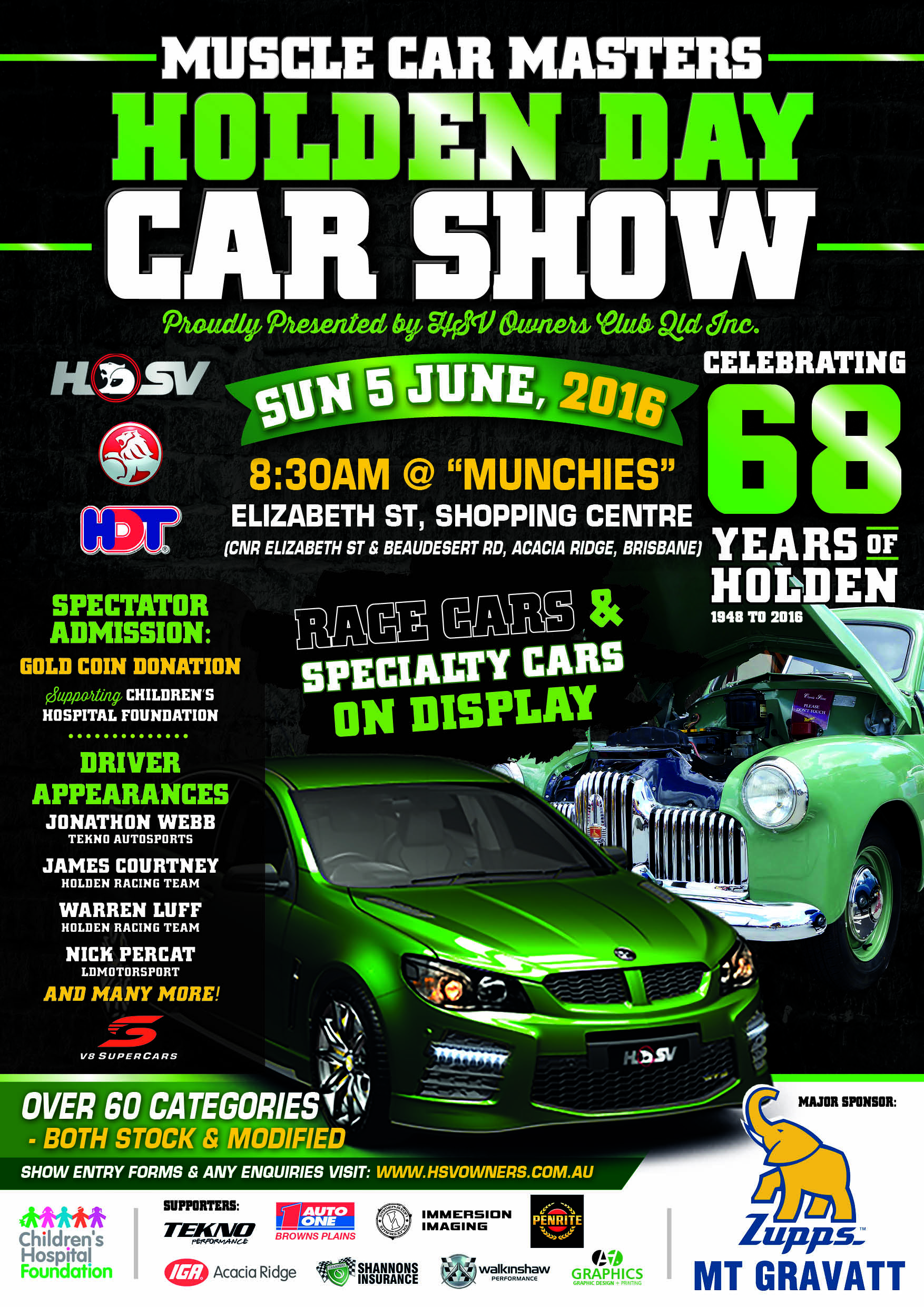 MCM HOLDEN DAY Car Show QLD Shannons Club - Upcoming car shows