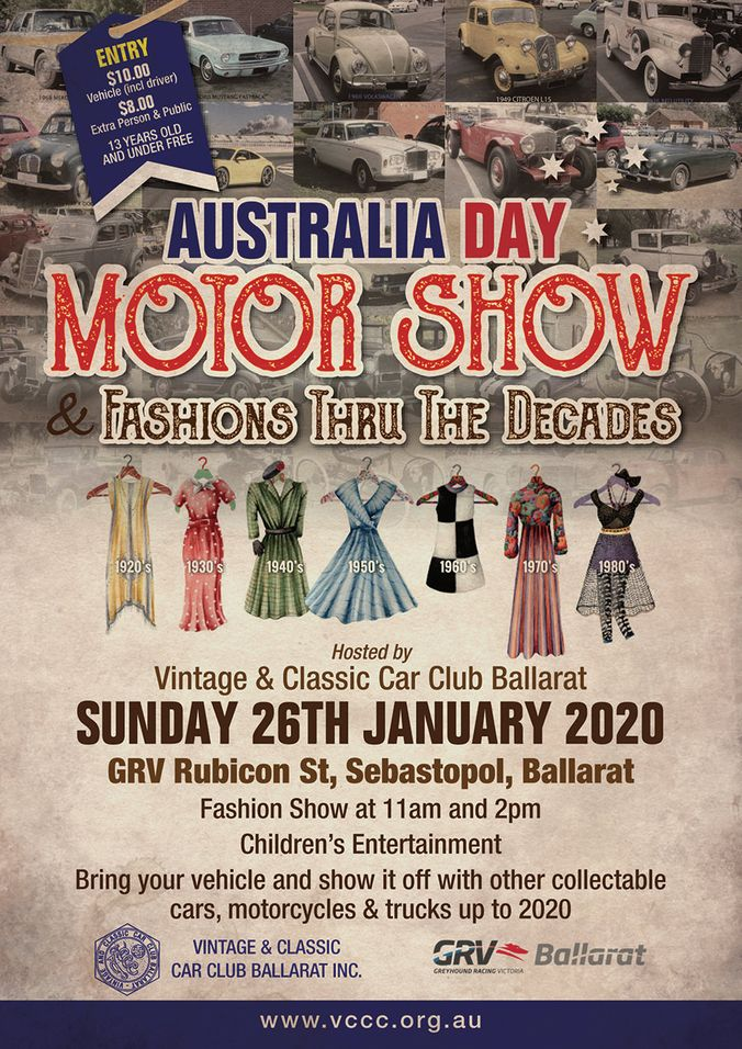 Australia Day Motor Show & Fashions Thru the Decades