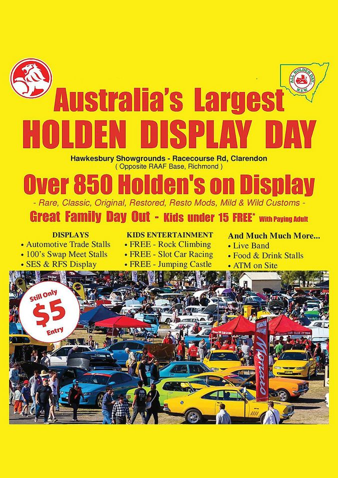 **NEW DATE** NSW All Holden Day Weekend 2021