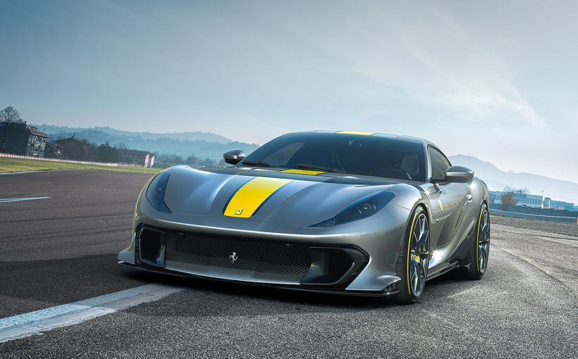 Ferrari shows off the latest iteration of its manic lightweight GT car; the 812 Competizione