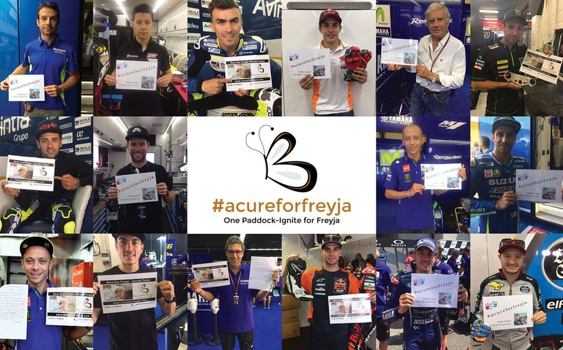 MotoGP Stars come to the aid of Freyja with an Exclusive Online Fundraising Auction
