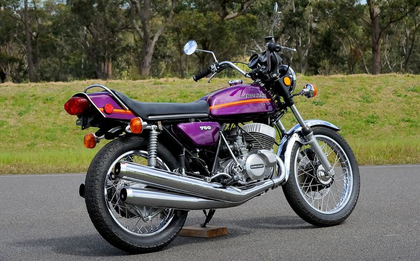 1973 Kawasaki H2 750: Deep Purple