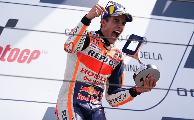 Marc Marquez pushed to the limit by Fabio Quartararo in a classic rookie-champ battle.