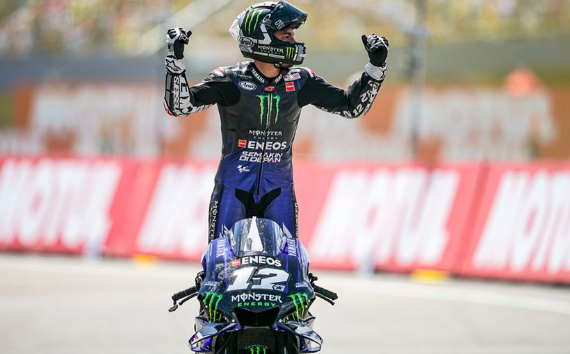 Top Gun Maverick Vinales bags Yamaha its first win as he battled with Marc Marquez and Fabio Quartararo lap after lap!
