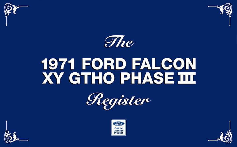 New book about the fastest four-door production sedan in the world: The 1971 Ford Falcon XY GTHO Phase III