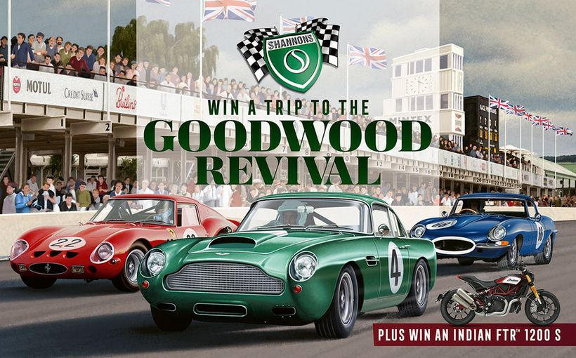 Win a Trip to the 2020 Goodwood Revival. Plus, an Indian FTR 1200 S Motorcycle.
