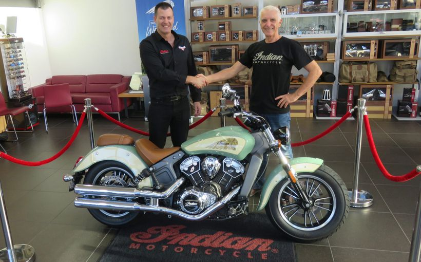 Pebble Beach Competition Winner Picks up his New Indian Scout