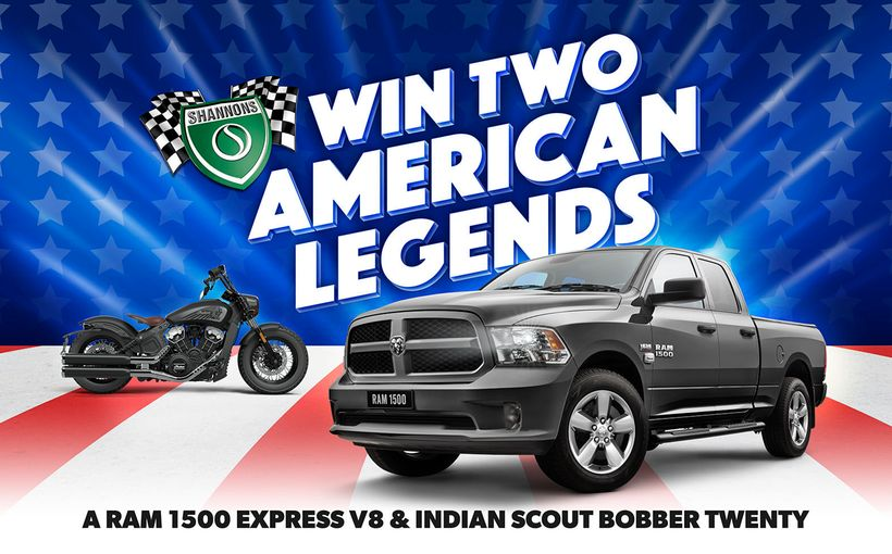 Win Two American Legends: A RAM 1500 Express V8 & Indian Scout Bobber Twenty