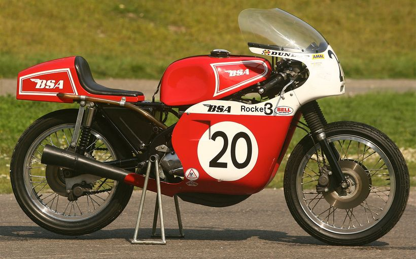 Mike Hailwood's 1971 BSA 750-3 Rob North Racer