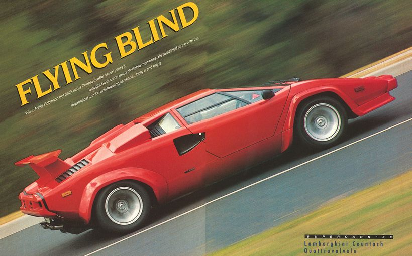 Lamborghini Countach Quattrovalvole - Flying Blind