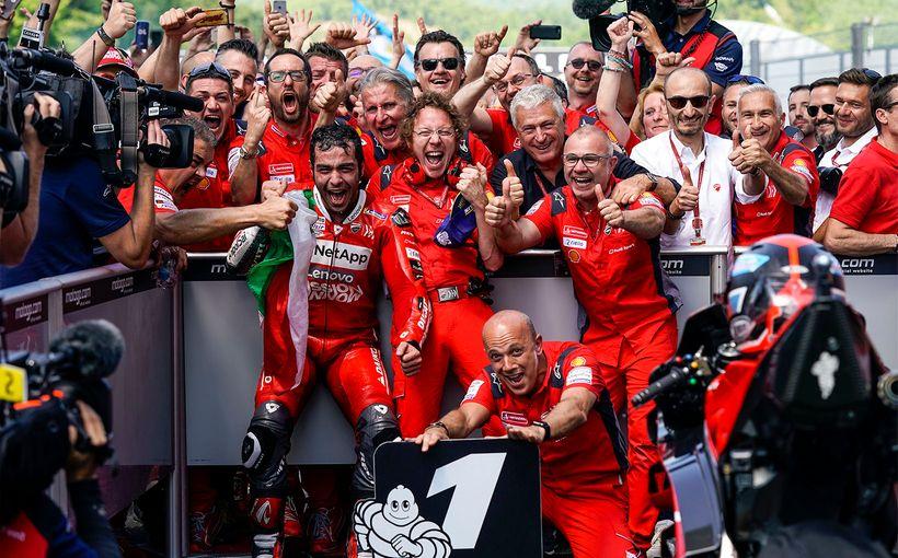 Danilo Petrucci Wins his First Ever MotoGP Race in Mugello!