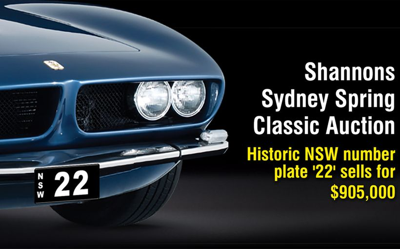 Heritage numerical number plates in demand at Shannons Sydney Spring Auction