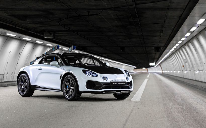 Alpine shows off dirt-road potential with rally-inspired A110 SportsX concept