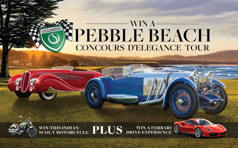 Win a Trip to the Pebble Beach Concours D'Elegance in the USA and an Indian Motorcycle
