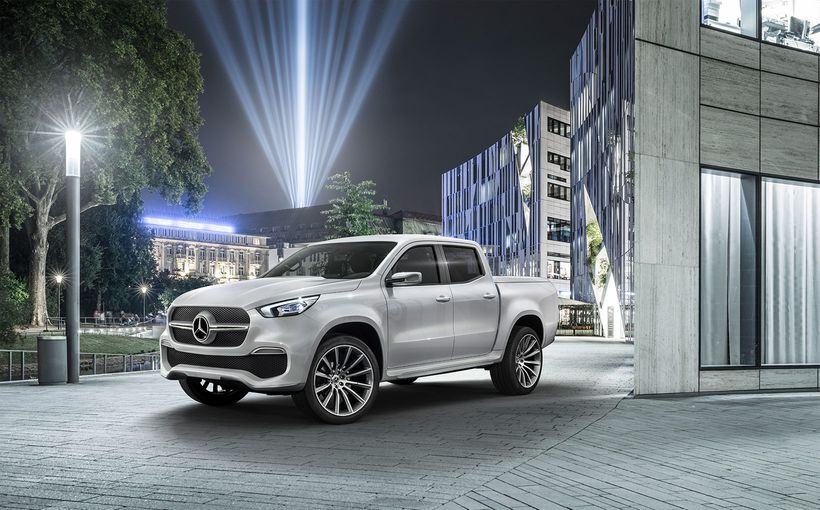 Does X mark the top spot for Mercedes' pick-up?