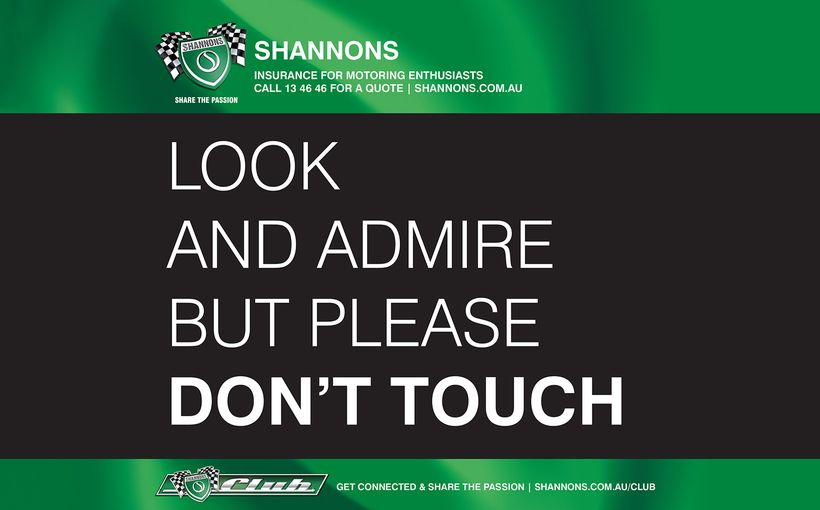 Free Shannons 'Look and Admire but Don't Touch' Signs