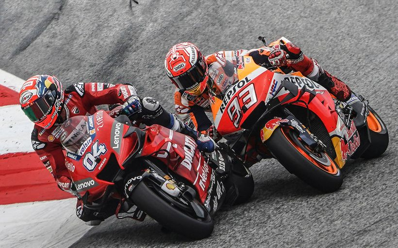 Andrea Dovizioso Destroys Marc Marquez On The Last Lap & Last Corner!