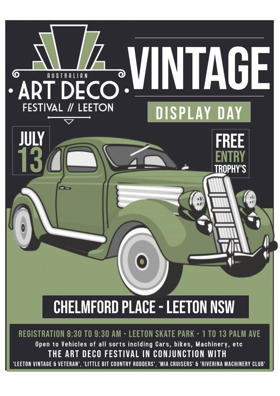 Art Deco Festival Vintage Car Display