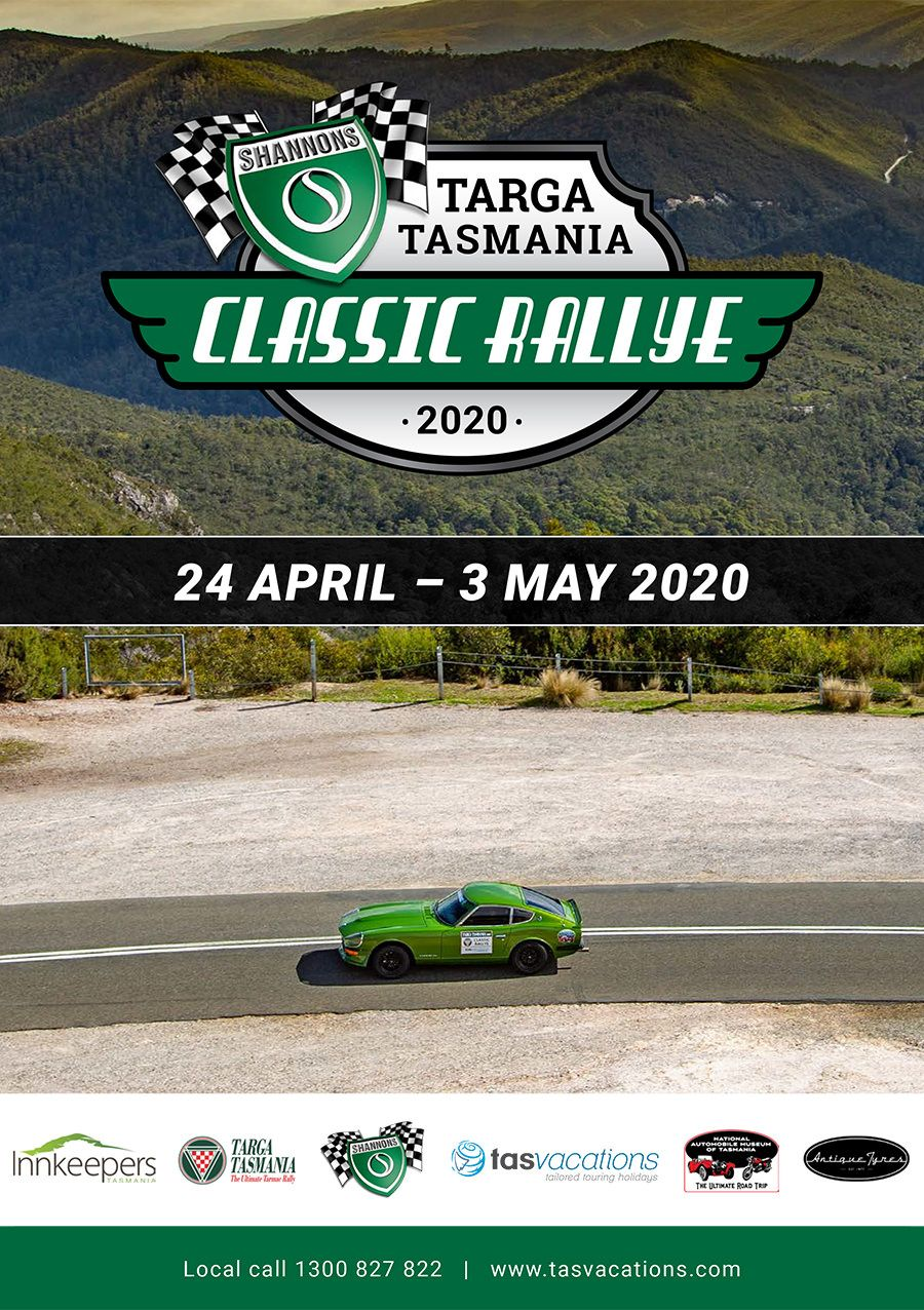 ****** CANCELLED ******2020 Shannons Targa Tasmania Classic Rallye- (featuring Jim Richards)