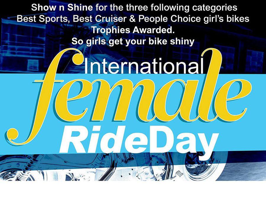 International Female Ride Day 2017 - Shannons Club