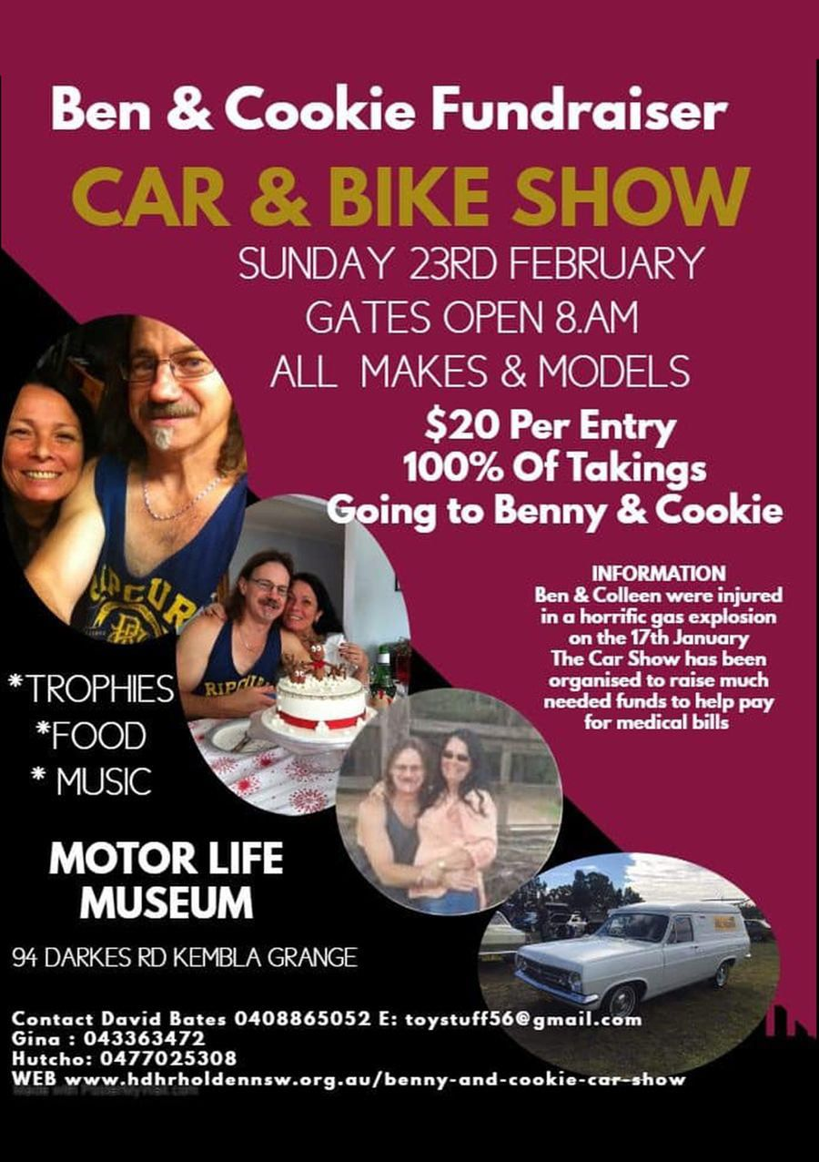 Ben & Cookie's Fundraiser Car & Bike Show