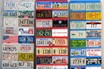 Number Plates x 52 - Assorted USA and Canadian Number Plates mounted on Boards