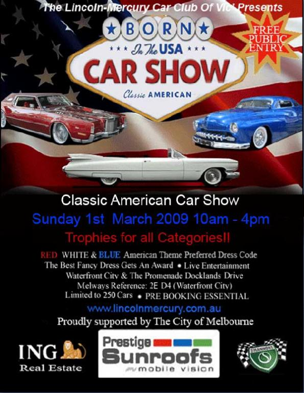 Born In The USA Car Show Lincoln Mercury Car Club Shannons Club - Car show trophy categories