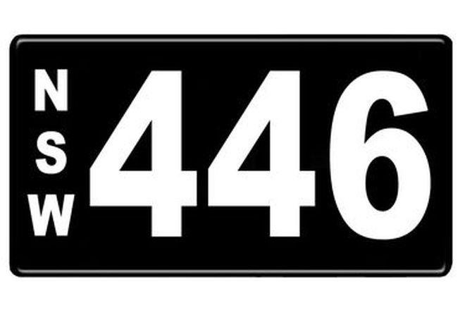 Number Plates - NSW Numerical Number Plates '446'