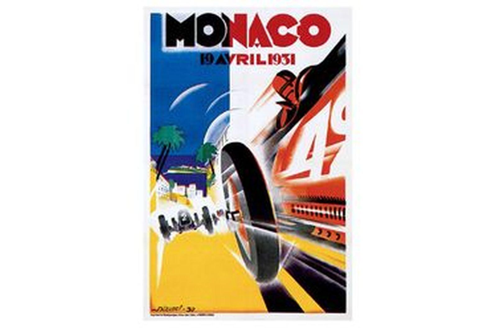 Framed Monaco Print 1931
