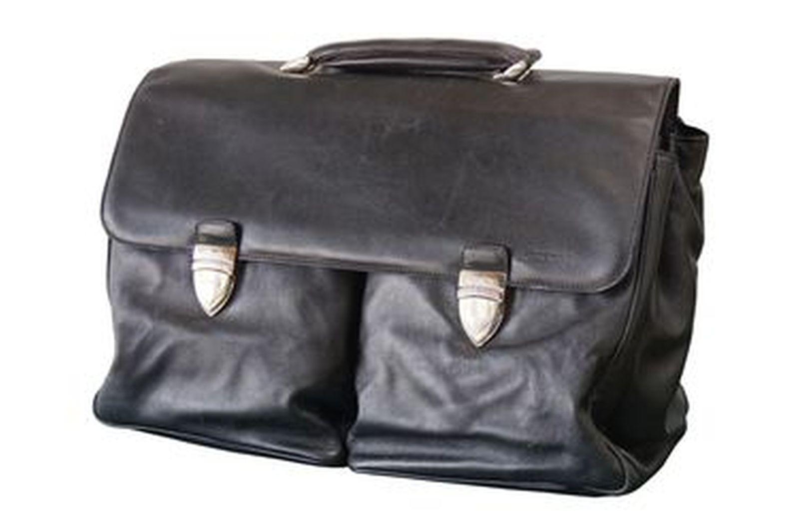 Brief Case - Lamborghini Black Leather Brief Case