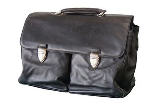 Brief Case - Lamborghini Black Leather Brief Case