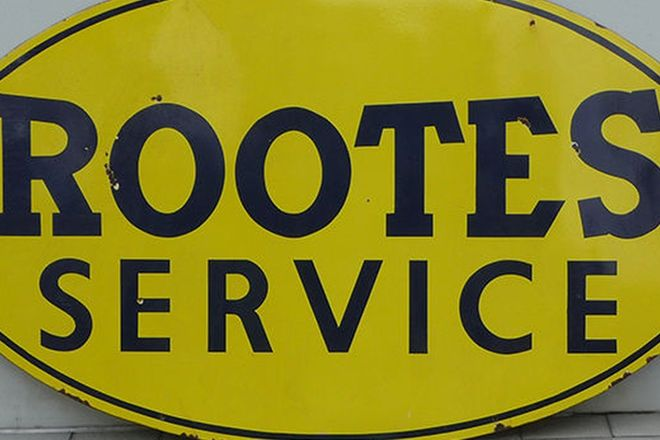 Enamel Sign - Rootes Service Oval (180 x 100cm)