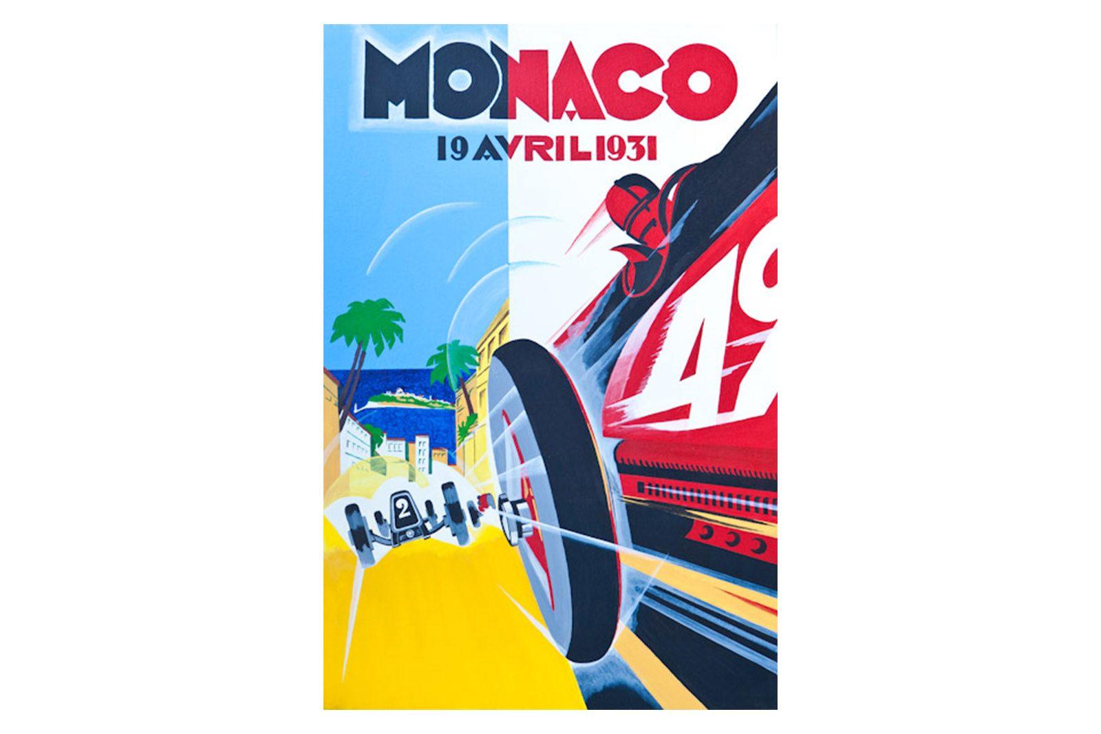 Quality Prints Framed - Monaco 19 Avril 1931