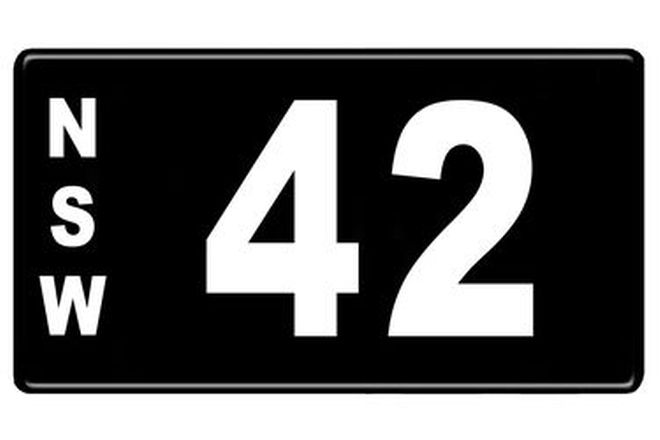 NSW Numerical Number Plates '42'