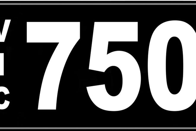 Number Plates - Victorian Numerical Number Plates '750'