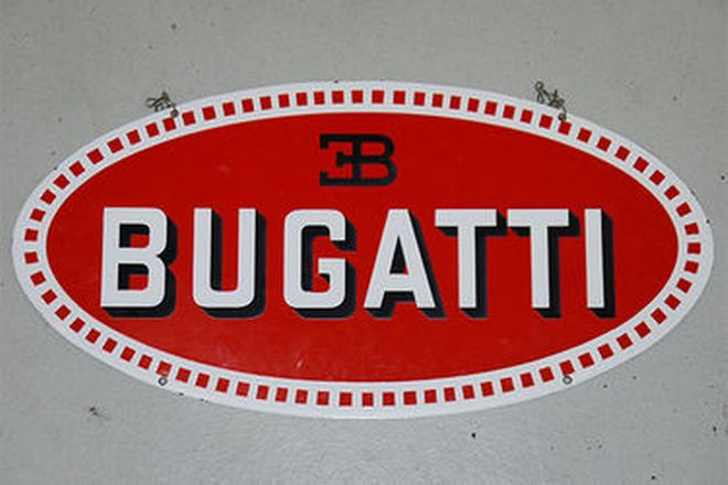 Enamel Sign - Bugatti double sided (No.1/25)