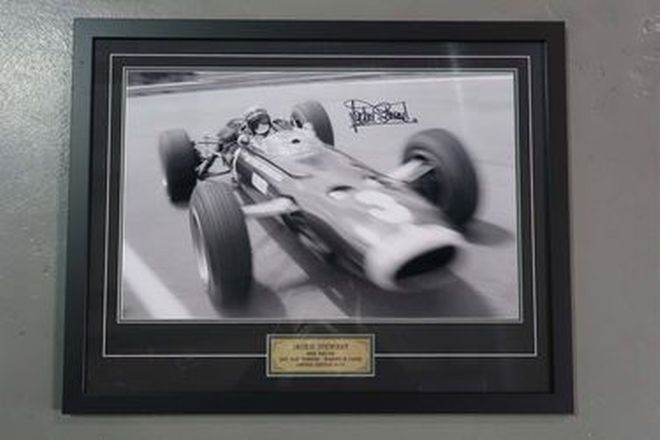 Framed Photo - Jackie Stewart: Winner of the 1967 AGP at Warwick Farm