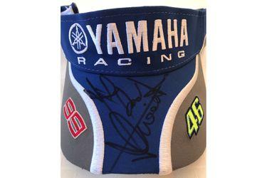 Yamaha Official Team Visor Cap Signed #46 #99