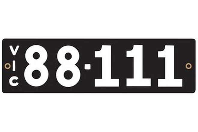 Victorian Numerical Number Plates '88.111'