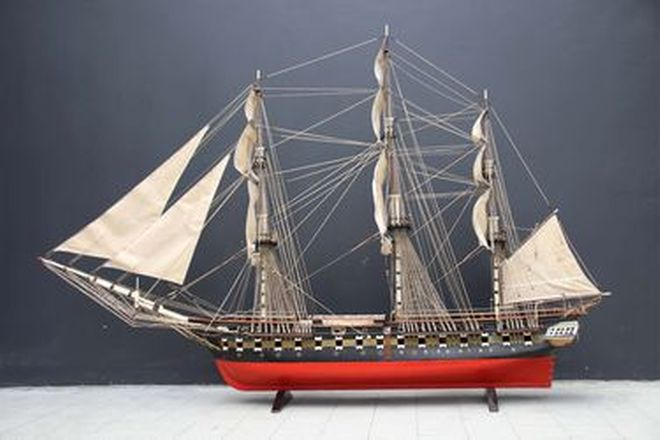 Model Ship - Scratch Built Timber Warship 'The Constitution' 1797