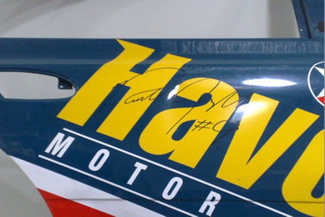 Rear Door from Russell Ingall's Ford V8 Supercar (signed by Russell Ingall)