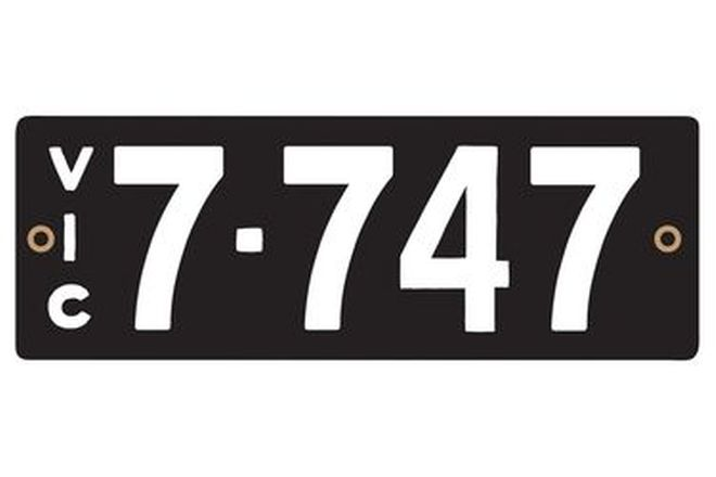 Victorian Heritage Numerical Number Plates '7.747'