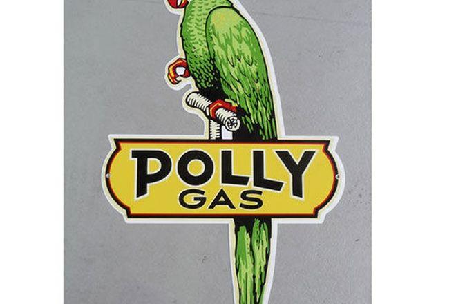 Tin Sign - Polly Gas Die Cut (Reproduction) (56cm h x 38cm w)