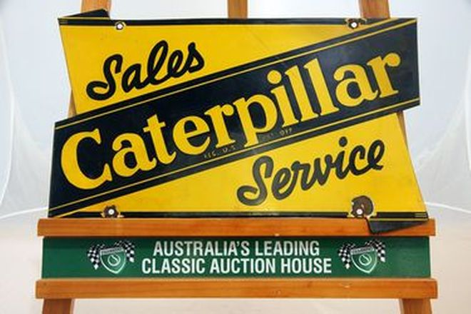 Enamel Sign - Caterpillar Dealership (52 x 32.5cm)