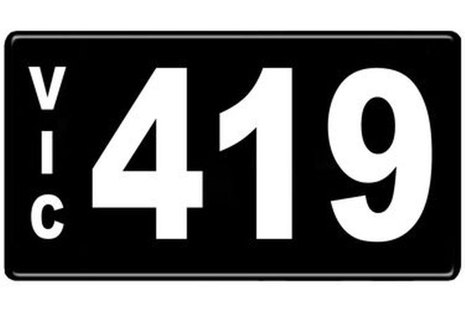 Number Plates - Victorian Numerical Number Plates '419'
