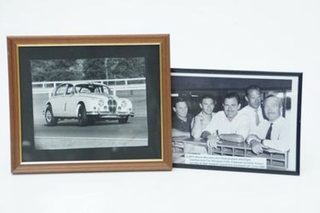 Framed Black & White Photos x 2