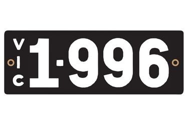 Victorian Heritage Numerical Number Plates - '1.996'