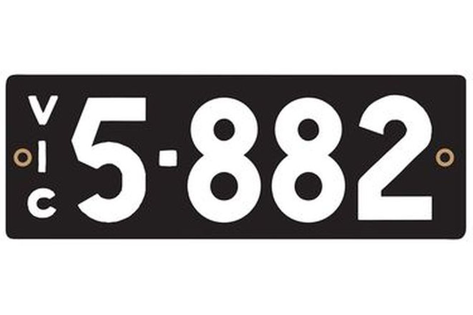 Victorian Heritage Number Plates '5.882'