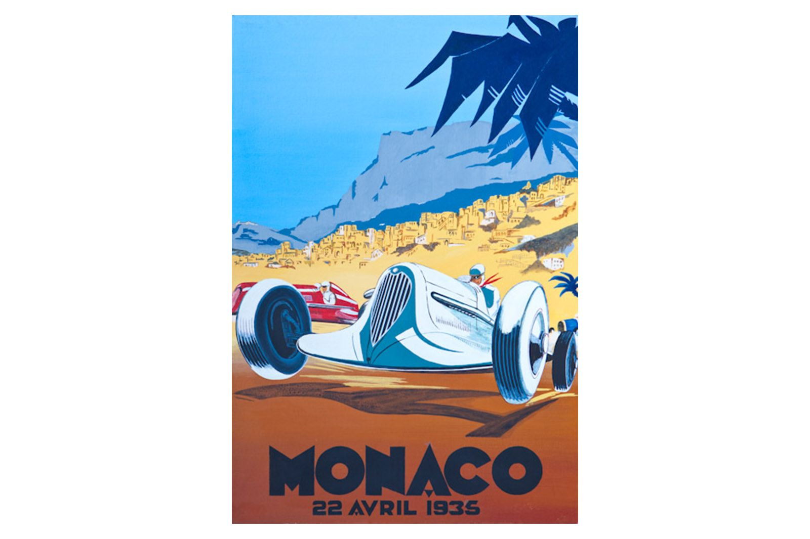 Quality Prints Framed - Monaco 22 Avril 1935