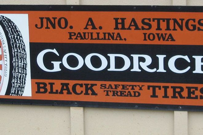 Sign - Goodrich Tires (500 x 1200mm)
